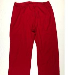 Land's End Red Elastic Waist Pull On Lounge Pants